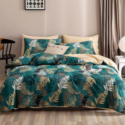 2020新款-春夏秋冬花卉全棉四件套 床单款三件套1.2m(4英尺)床 静好