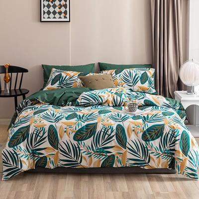 2020新款-春夏秋冬花卉全棉四件套 床单款三件套1.2m(4英尺)床 清颜