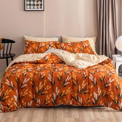 2020新款-春夏秋冬花卉全棉四件套 床单款三件套1.2m(4英尺)床 秋