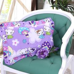 8元起 全棉卡通儿童枕带枕套 30*50cm 花边-小狗紫