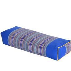 荞麦枕-条纹老粗布荞麦枕(50*20*8cm) 宝蓝色
