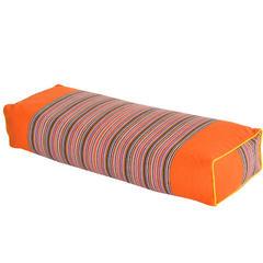 荞麦枕-条纹老粗布荞麦枕(50*20*8cm) 橘色