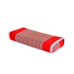 2018新款条纹老粗布荞麦枕 大红50*20*8cm