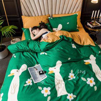 2019新款輕奢精梳棉四件套 1.2m床單款三件套 克萊爾