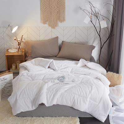 2018新款暖绒棉花被 200X230cm7.6斤 棉花被(白)