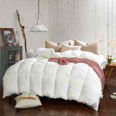 2018新款水洗棉冬被舒适羽丝被 150x200cm4.6斤 白色