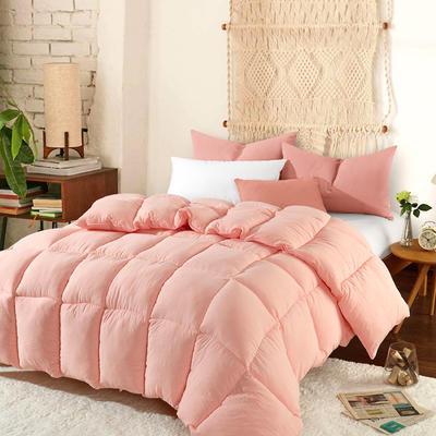 2018新款水洗棉冬被舒適羽絲被 150x200cm4.6斤 玉色