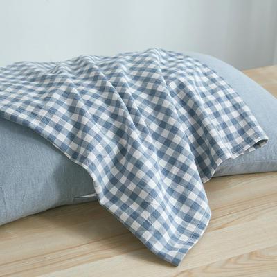 水洗棉荞麦枕48*74/个 湖蓝