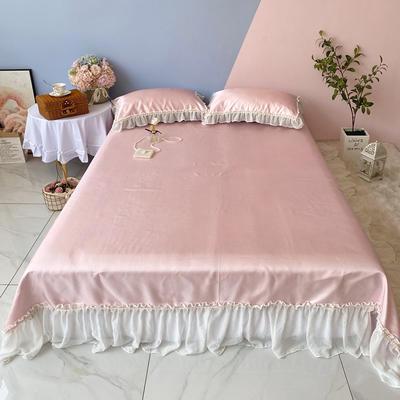 2020新款少女风凉席床裙三件套 1.5m(5英尺)床 仙女粉
