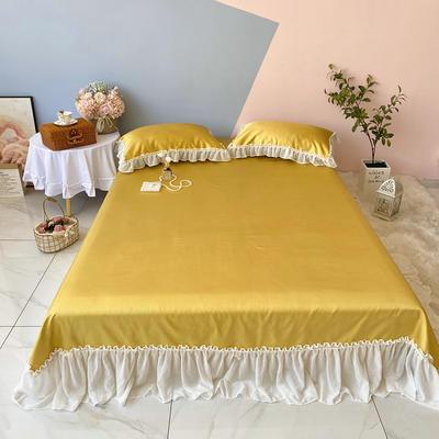 2020新款少女风凉席床裙三件套 1.5m(5英尺)床 仙女黄