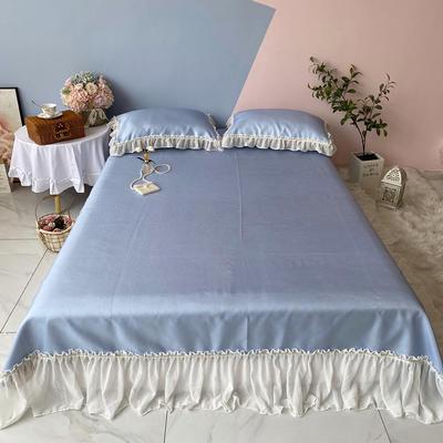 2020新款少女风凉席床裙三件套 1.5m(5英尺)床 仙女蓝