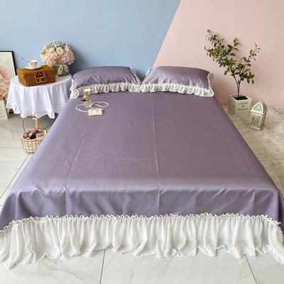 2020新款少女风凉席床裙三件套 1.5m(5英尺)床 仙女紫