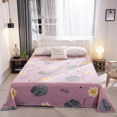 2019新款170g双面法莱绒单毛毯 150*200cm 浪漫花语