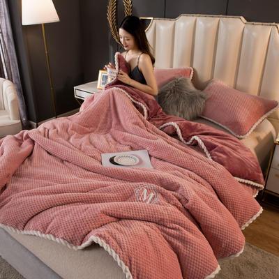 2020新款贝贝绒法莱绒金貂绒牛奶绒单毛毯 150cmx200xm 贝贝绒-豆沙
