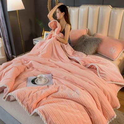 2020新款毛毛绒法莱绒金貂绒牛奶绒单毛毯盖毯 150*200cm 毛毛绒-玉