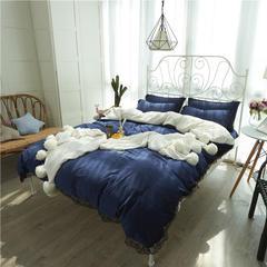 洛丽塔系列 1.5米/1.8米床 宝蓝色