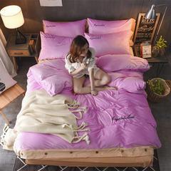 法兰绒、美式水晶绒四件套、纽扣款 标准(1.5m床/1.8m床) 粉玉