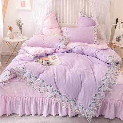 2020新款玫瑰秘密系列四件套-床单款 1.5m床单款 玫瑰秘密-紫粉