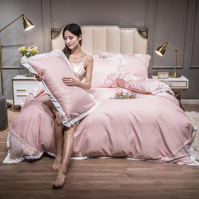 2021新款水洗真丝公主风蕾丝四件套 1.5m床单款四件套 仙姿玉