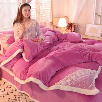 2021秋冬新款水晶绒公主系列四件套 1.2m床单款三件套 姹紫