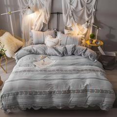 2018宜代光年新品水洗棉+水晶绒 四件套 1.5m(5英尺)床 休闲生活