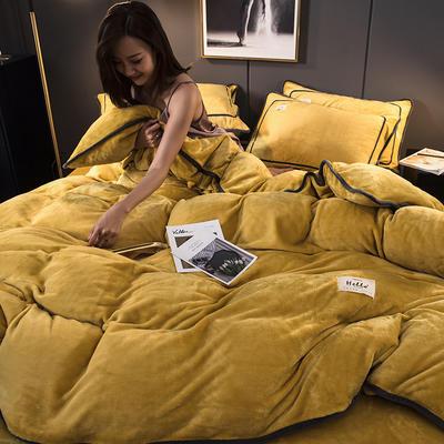 2019新款纯色牛奶绒 系列四件套 1.2m床单款三件套 柠檬黄