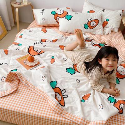 2020新品全棉夏被四件套 枕套一只 蘿卜兔