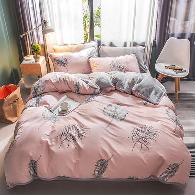 2020新款棉+法莱绒系列四件套 1.2m床单款三件套 暖