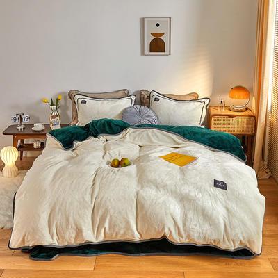 2020新款纯色牛奶绒四件套 北欧风拍摄图片 1.2m床单款三件套 奈雪