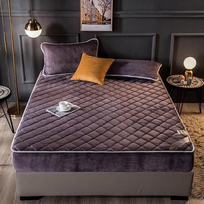 2020新款宝宝绒乳胶床笠 120cmx200cm单床笠 迷宫格-紫