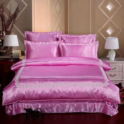 冰丝四件套系列 加大(2.0-2.2m)床 粉色