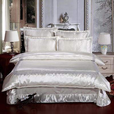 冰丝四件套系列 加大(2.0-2.2m)床 白色