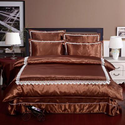 冰丝四件套系列 标准(1.5-1.8m)床 咖色