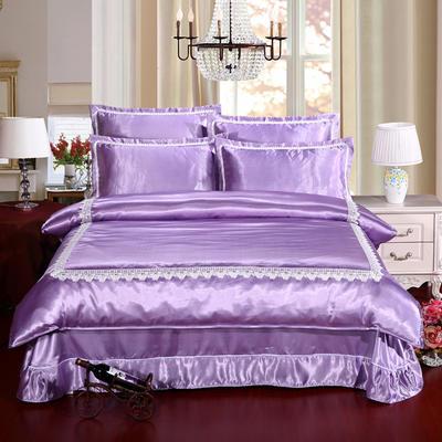 冰丝四件套系列 标准(1.5-1.8m)床 浅紫色