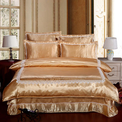 冰丝四件套系列 加大(2.0-2.2m)床 驼色