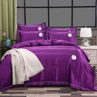 2018新款皇冠冰丝四件套 1.5m(5英尺)床 浪漫紫