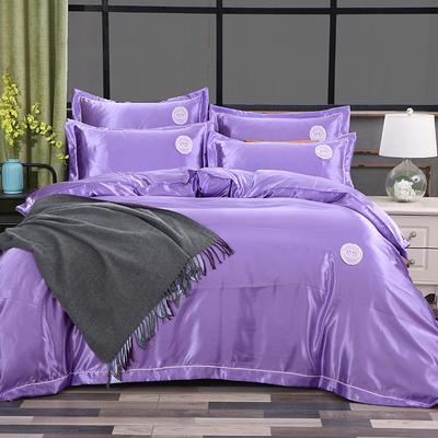 2018新款皇冠冰丝四件套 1.5m(5英尺)床 幽雅紫