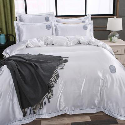 2018新款皇冠冰丝四件套 1.5m(5英尺)床 珍珠白