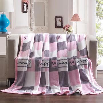 活性印染保暖魔法绒毛毯 150*200cm 巴黎情
