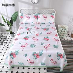 爱情伞毯业   数码印花空调席冰丝席凉席腾席床单式可水洗凉席可折叠凉席 1.5-1.8m床 热带雨林
