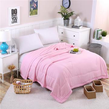 卡璐蒂家纺    纯色水洗棉夏被空调被 1.5m 粉红