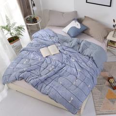 水洗棉冬被系列-无印花冬被 150x200cm(6斤) 猫咪灰色