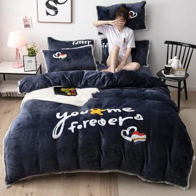 2019新款法莱绒保暖四件套 1.2m床单款三件套 深灰