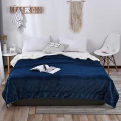 2018新款-羊羔绒毛毯 100*120cm 海蓝