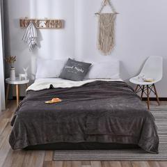 2018新款-羊羔绒毛毯 100*120cm 灰色