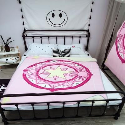 魔法绒羊羔绒毯(大号) 1.5*2.0 粉色魔法阵