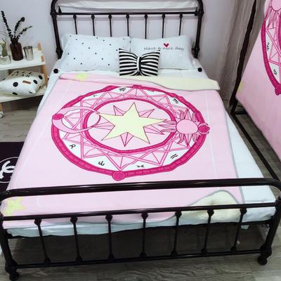 魔法绒羊羔绒毯大号 1.5*2.0 粉色魔法阵