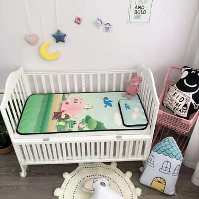 2018新款婴儿床冰丝席(实拍图) 60*120(2件套) 动物园