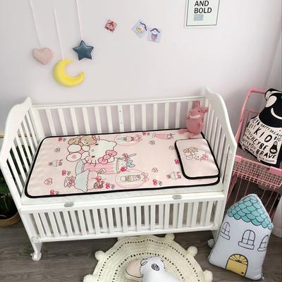 2018新款婴儿床冰丝席(实拍图) 60*120(2件套) 粉KT