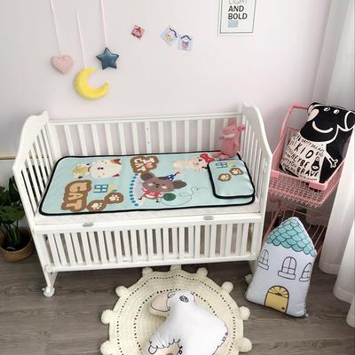 2018新款婴儿床冰丝席(实拍图) 60*120(2件套) 猫咪
